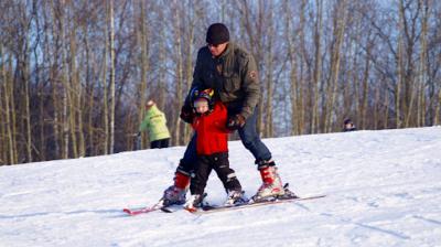 nauka jazdy na nartach, instruktor dla dzieci