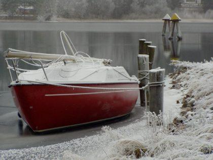jacht zimą